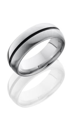 Lashbrook Cobalt Chrome Wedding Band CC8D11A DOUBLE ANGLE-SATIN product image
