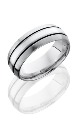 Lashbrook Cobalt Chrome Wedding band CC8D12A-SS SATIN product image