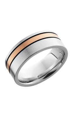 Lashbrook Cobalt Chrome Wedding band CC8F12OC-14KRMGA SATIN product image