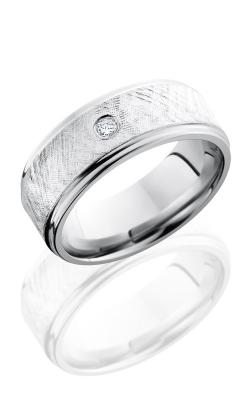 Lashbrook Cobalt Chrome Wedding band CC8FGE16-SSDIA.07 FLORENTINE product image