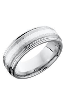 Lashbrook Cobalt Chrome Wedding band CC8REF12-SS STONE-POLISH product image