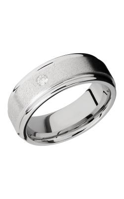 Lashbrook Cobalt Chrome Wedding band CC8REFDIA.07F STONE-POLISH product image
