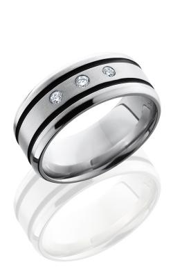 Lashbrook Cobalt Chrome Wedding band CC9B21WADIA3X.05F SATIN-POLISH product image