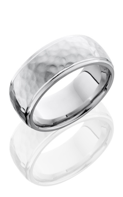 Lashbrook Cobalt Chrome Wedding band CC9DGE HAMMER-POLISH product image