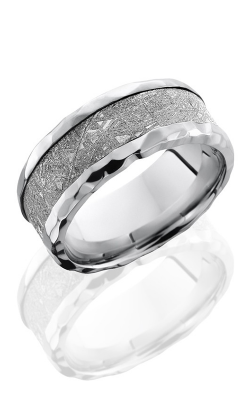 Lashbrook Cobalt Chrome Wedding band CC9B15 NS -METEORITE ROCK product image