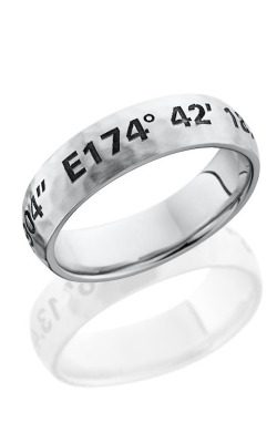 Lashbrook Cobalt Chrome Wedding band CC6D LCVCOORDINATES HAMMER product image