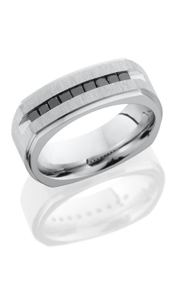 Lashbrook Cobalt Chrome Wedding Band CC8FGESQ9XBLKDIA CROSS SATIN POLISH product image
