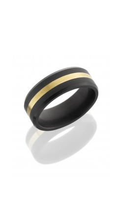 Lashbrook Elysium Wedding band E8B12 24KY MATTE product image