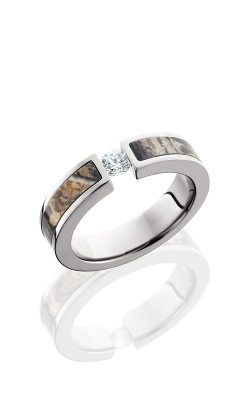 Lashbrook Camo Wedding Band CAMO5F13SEGDIA.25T-RTAP POLISH product image