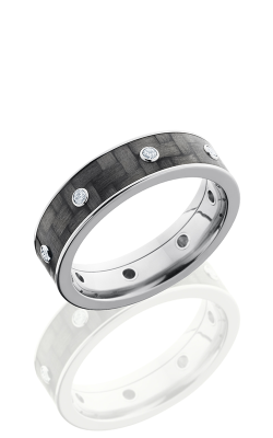 Lashbrook Carbon Fiber Wedding Band C6F15 CFDIA8X.03B POLISH product image