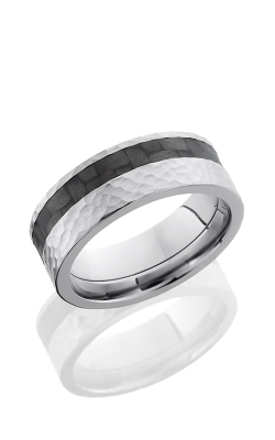 Lashbrook Carbon Fiber Wedding Band C8F13OC CF HAMMER product image