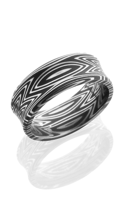 Lashbrook Damascus Steel Wedding band D8CBZEBRA ACID product image