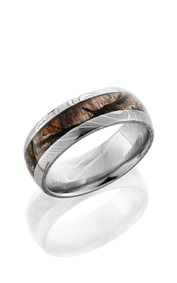 Lashbrook Damascus Steel Wedding Band D8D14 MOCTREESTAND POLISH product image