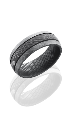 Lashbrook Damascus Steel Wedding Band D8D2.5 ACID BEAD product image