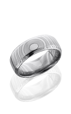 Lashbrook Damascus Steel Wedding Band D8DBTIGER POLISH product image