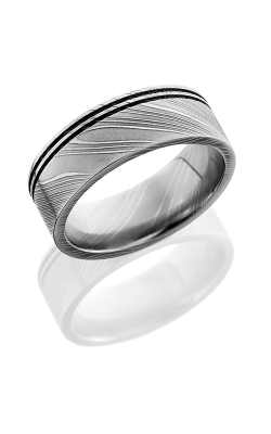 Lashbrook Damascus Steel Wedding Band D8F2.5OC POLISH product image