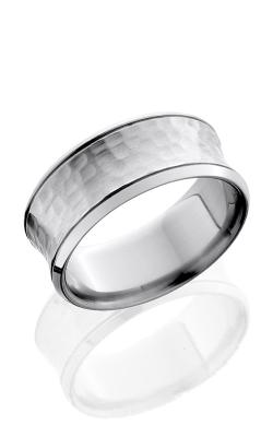 Lashbrook Titanium Wedding band 10BCCG HAMMER POLISH product image