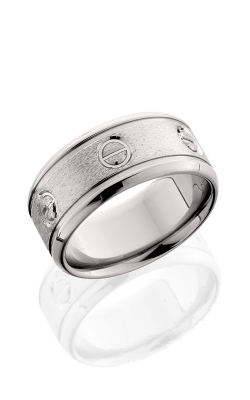 Lashbrook Titanium Wedding band 10BTG025 Stone Polish product image