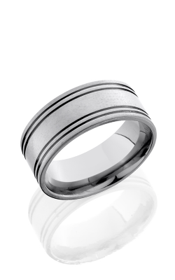 Lashbrook Titanium Wedding band 10F4.5W Cross Brush product image