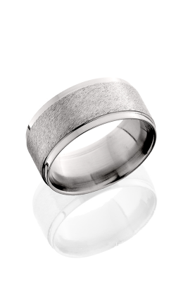 Lashbrook Titanium Wedding band 10FGEW Angle Stone Polish product image