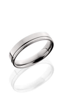Lashbrook Titanium Wedding band 5F1.5OC POLISH STONE product image