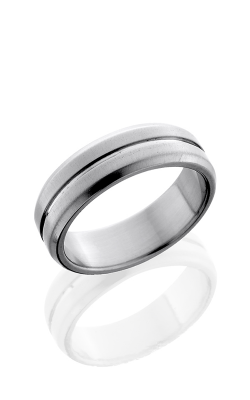 Lashbrook Titanium Wedding band 7B11 NS CROSS BRUSH POLISH product image
