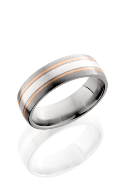Lashbrook Titanium Wedding band 7D122.5 SS14KR SATIN product image