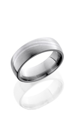 Lashbrook Titanium Wedding band 7DDBLWAVE SS SATIN product image