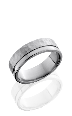Lashbrook Titanium Wedding band 7F1.5OC HAMMER POLISH product image