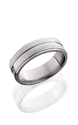Lashbrook Titanium Wedding band 7FGE11 STONE POLISH product image