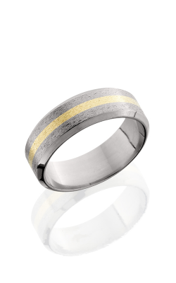 Lashbrook Titanium Wedding band 8B12 NS 14KY STONE POLISH product image