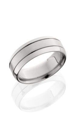 Lashbrook Titanium Wedding band 8B2G SATIN POLISH product image