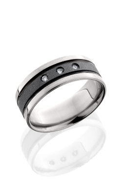 Lashbrook Titanium Wedding band 8F21WADIA3X.03F SANDBLAST product image