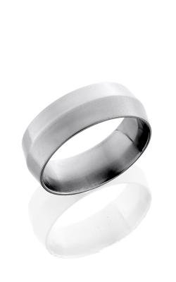 Lashbrook Titanium Wedding band 8P CROSS BRUSH product image
