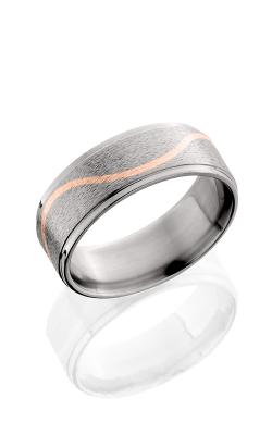 Lashbrook Titanium Wedding band 8RCMLW 14KR STONE POLISH product image