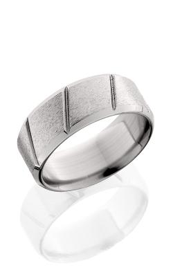 Lashbrook Titanium Wedding band CB-9F-MCT CROSSES POLISH product image
