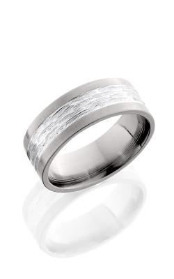 Lashbrook Titanium Wedding band 8F14 SS TBH CROSS BRUSH product image