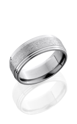 Lashbrook Titanium Wedding band 8F2S STONE POLISH product image