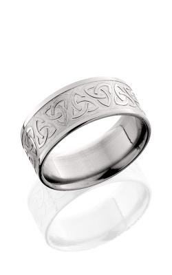 Lashbrook Titanium Wedding band 9FTRINITYU BEAD POLISH product image