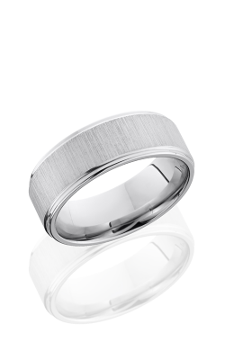Lashbrook Cobalt Chrome Wedding Band CC8FGE CROSS SATIN-POLISH product image