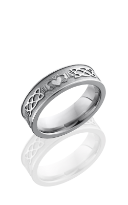 Lashbrook Cobalt Chrome Wedding Band CC7FCLADDAGHCELTIC product image