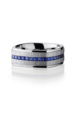 Lashbrook Cobalt Chrome Wedding Band CC8FGESQETERNITYSAPPHIRE product image