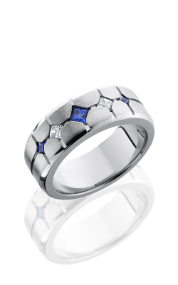 Lashbrook Cobalt Chrome Wedding Band CC8B3XSAPPHIRE2XDIA product image