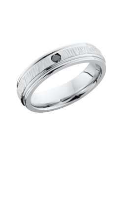 Lashbrook Cobalt Chrome Wedding band CC6REFBLKDIA.07F product image