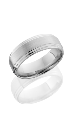 Lashbrook Cobalt Chrome Wedding Band CC8FGG HAMMER SATIN-POLISH product image