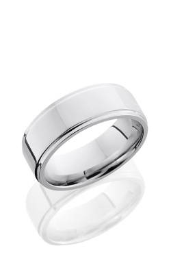 Lashbrook Cobalt Chrome Wedding Band CC8FGE POLISH product image
