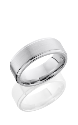 Lashbrook Cobalt Chrome Wedding band CC8FGE SATIN-POLISH product image