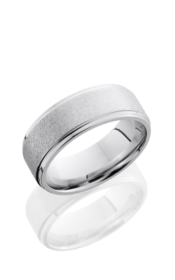 Lashbrook Cobalt Chrome Wedding Band CC8FGE ANGLE STONE product image