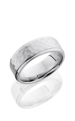 Lashbrook Cobalt Chrome Wedding Band CC8FGE HAMMER-POLISH product image