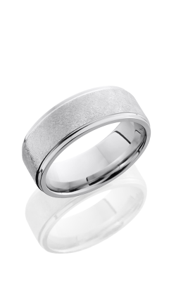 Lashbrook Cobalt Chrome Wedding Band CC8FGE DISTRESS-POLISH product image